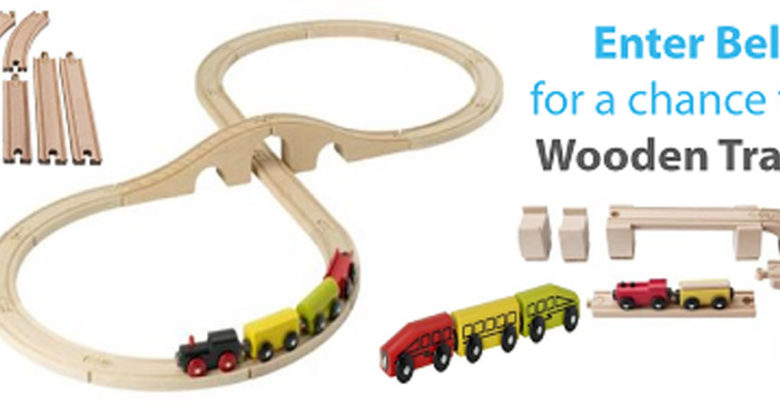 Photo of Win a 45 Piece Wooden Train Set ( May Giveaway )