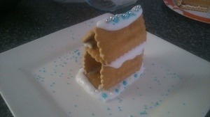"biscuit ""gingerbread"" house"