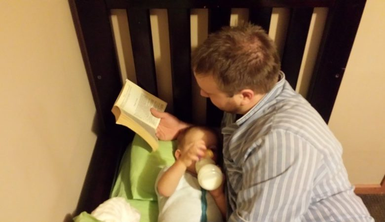 Photo of Elliot and Daddy's Bedtime Routine