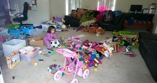 cleaning out the kids toys