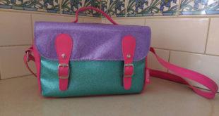 Smash sparkly satchel bag