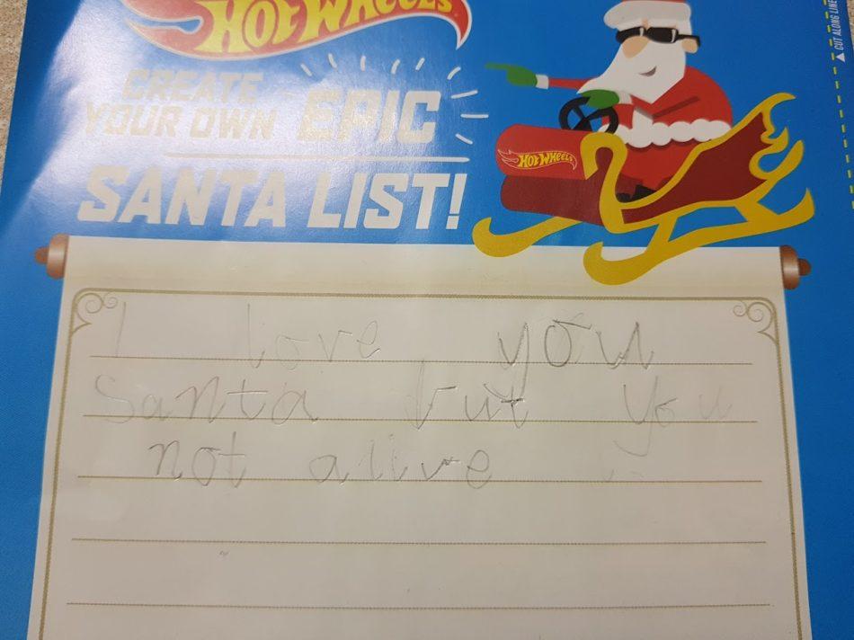 Santa is not alive