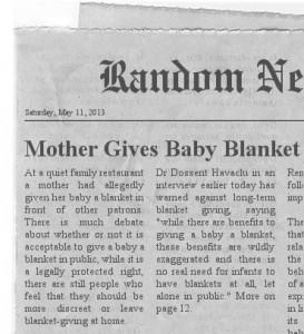Blanket in public