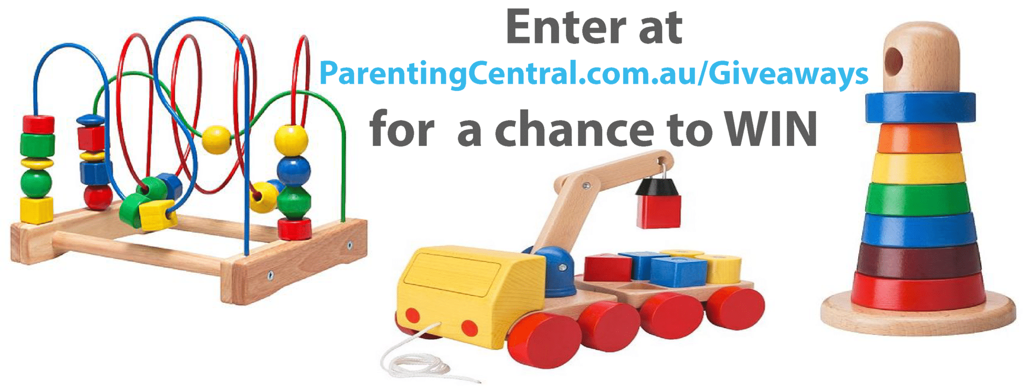 Photo of WIN Wooden Toddler Toys ( July Giveaway )